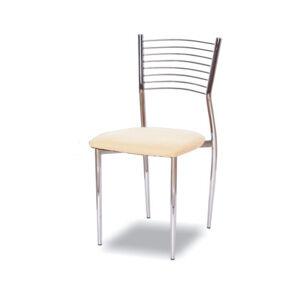KONDELA Zaira TC-366 jedálenská stolička béžová / chrómová