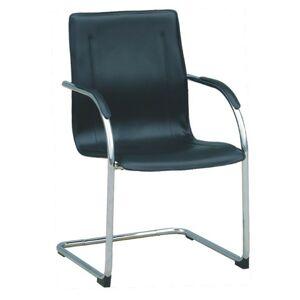 KONDELA MI-01 konferenčná stolička čierna