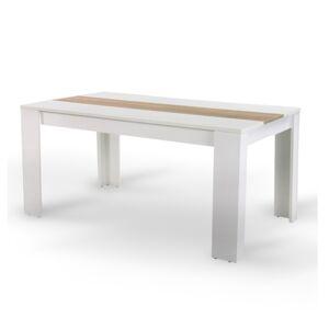 TEMPO KONDELA Radim jedálenský stôl biela / dub sonoma
