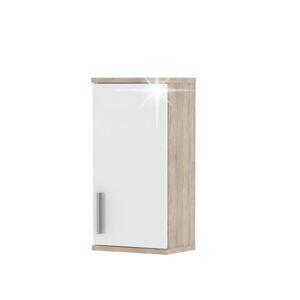 TEMPO KONDELA Lessy LI 4 kúpeľňová skrinka na stenu dub sonoma / biela