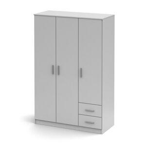 TEMPO KONDELA Noko-Singa 84 3D šatníková skriňa biela