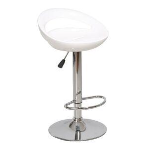 TEMPO KONDELA Dongo HC-104 New barová stolička biela / chrómová