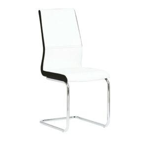 TEMPO KONDELA Neana jedálenská stolička biela / chrómová