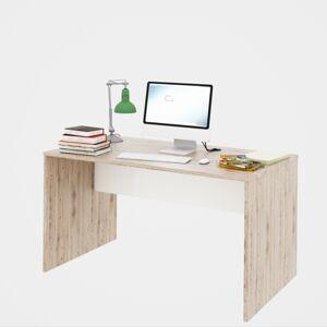 TEMPO KONDELA Rioma Typ 11 písací stôl san remo / biela