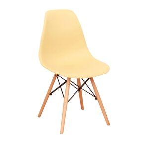 TEMPO KONDELA Cinkla 3 New jedálenská stolička cappuccino-vanilka / buk
