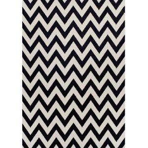 TEMPO KONDELA Adisa koberec 67x120 cm slonovinová / tmavosivá