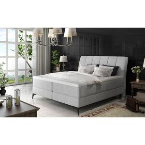 NABBI Altama 160 čalúnená manželská posteľ s úložným priestorom svetlosivá (Cover 83)