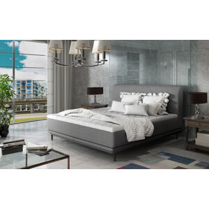 NABBI Ancona 160 čalúnená manželská posteľ sivá (Sawana 05)