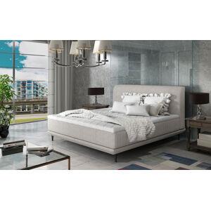 NABBI Ancona 160 čalúnená manželská posteľ svetlosivá (Orinoco 21)