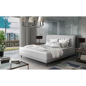 NABBI Ancona 160 čalúnená manželská posteľ svetlosivá (Sawana 21)