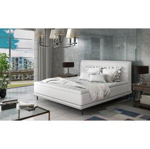 NABBI Ancona 180 čalúnená manželská posteľ biela