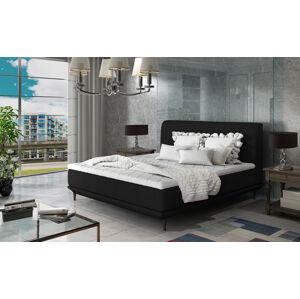 NABBI Ancona 180 čalúnená manželská posteľ čierna (Ontario 100)