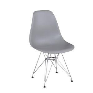 TEMPO KONDELA Anisa New jedálenská stolička sivá / chróm
