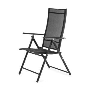 NABBI Aron II záhradná stolička čierna