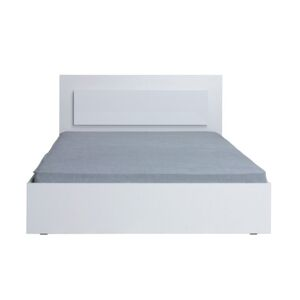 TEMPO KONDELA Asiena 160 manželská posteľ 160x200 cm biela / biely vysoký lesk