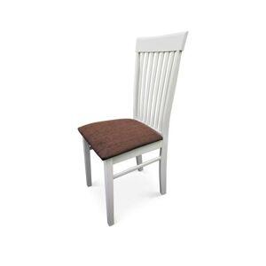 TEMPO KONDELA Astro New jedálenská stolička biela / hnedá