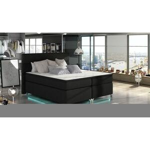 NABBI Avellino 180 čalúnená manželská posteľ s úložným priestorom čierna (Sawana 14)