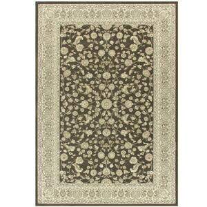 TEMPO KONDELA Azir koberec 100x150 cm tmavosivá / vzor