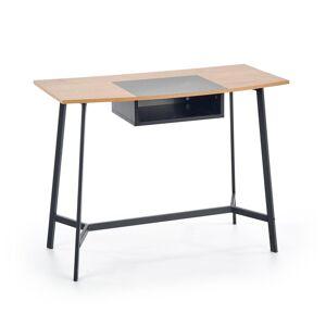HALMAR B-41 písací stolík dub zlatý / čierna