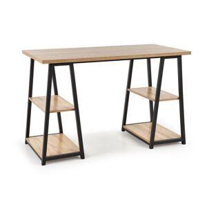 HALMAR B-44 písací stolík dub sonoma / čierna