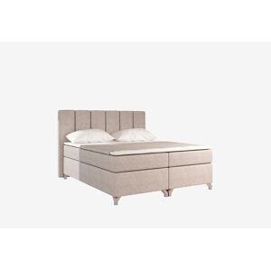 NABBI Barino 160 čalúnená manželská posteľ s úložným priestorom béžová (Dora 21)