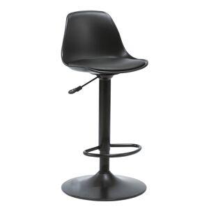 TEMPO KONDELA Dobby barová stolička čierna