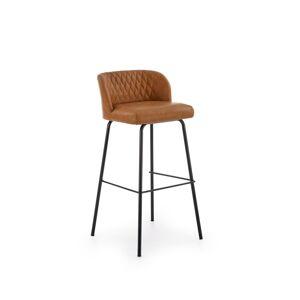 HALMAR H-92 barová stolička svetlohnedá / čierna