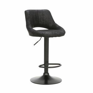 TEMPO KONDELA Lorasa barová stolička čierna