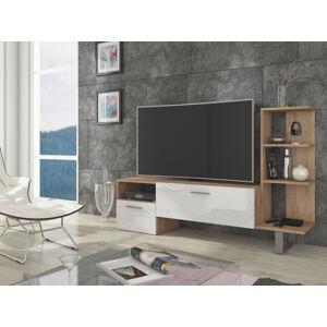 MEBLOCROSS Best tv stolík sonoma svetlá / biely lesk
