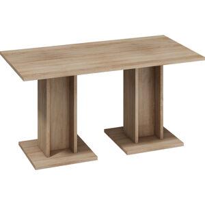 MEBLOCROSS Bond BON-03 jedálenský stôl sonoma svetlá