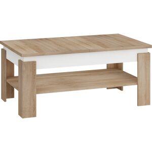 MEBLOCROSS Boston rozkladací konferenčný stolík sonoma svetlá / biely lesk