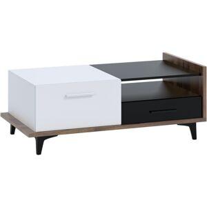 MEBLOCROSS Box Box-03 konferenčný stolík craft tobaco / biela / čierna