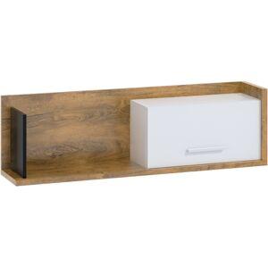 MEBLOCROSS Box Box-11 polica dub burgundský / biela / čierna