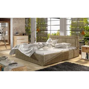 NABBI Branco 200 čalúnená manželská posteľ s roštom cappuccino