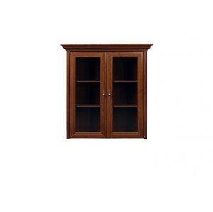BLACK RED WHITE Kent ENAD2W rustikálna vitrína gaštan