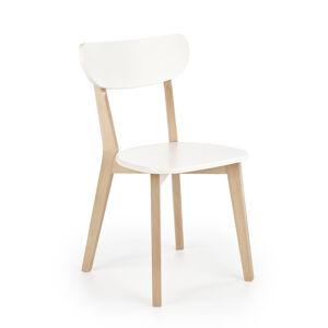 HALMAR Buggi drevená jedálenská stolička buk / biela