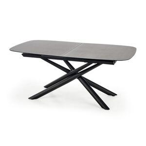HALMAR Capello rozkladací jedálenský stôl tmavosivá / čierna