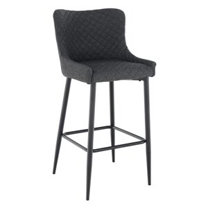KONDELA Cezaria barová stolička sivá / čierna