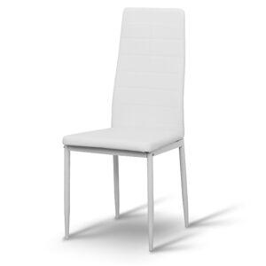 TEMPO KONDELA Coleta Nova jedálenská stolička biela / biela