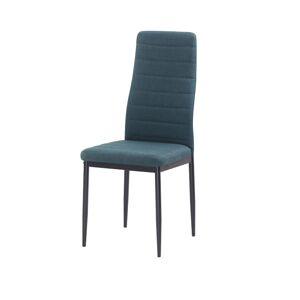 TEMPO KONDELA Coleta Nova jedálenská stolička smaragdová / čierna