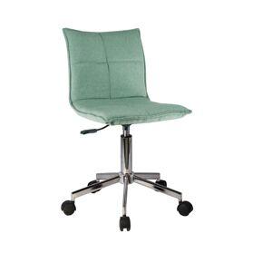 TEMPO KONDELA Craig kancelárska stolička mentolová / chróm