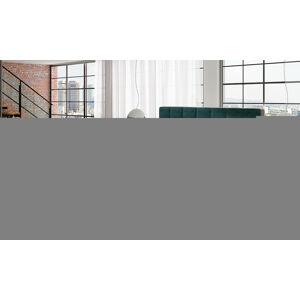 NABBI Dalino 160 čalúnená manželská posteľ s úložným priestorom svetlomodrá / sivá