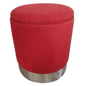 KONDELA Daron taburetka s úložným priestorom oxy fire červená / chróm