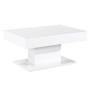 TEMPO KONDELA Dikaro konferenčný stolík biely vysoký lesk
