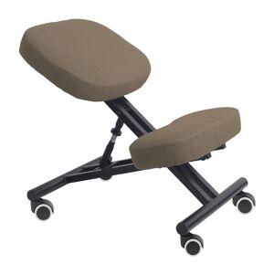 TEMPO KONDELA Kilian ergonomická kľakačka na kolieskach sivohnedá (taupe) / čierna