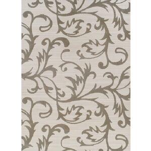 TEMPO KONDELA Gabby koberec 100x150 cm krémová / sivý vzor