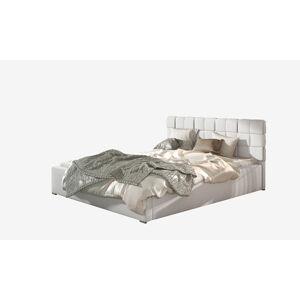 NABBI Galimo UP 160 čalúnená manželská posteľ s roštom biela