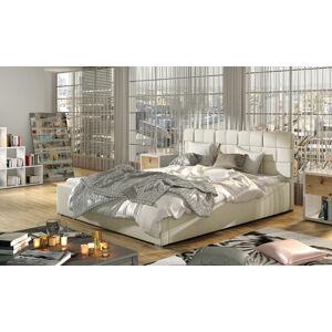 NABBI Galimo 200 čalúnená manželská posteľ s roštom béžová