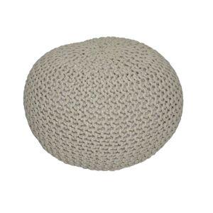 TEMPO KONDELA Gobi Typ 1 pletená taburetka hnedosivá