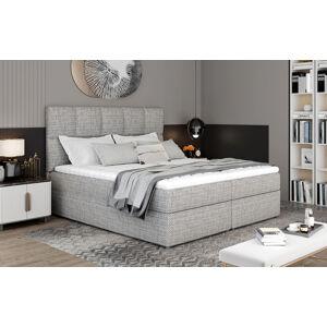 NABBI Grosio 165 čalúnená manželská posteľ s úložným priestorom sivá (Berlin 01)